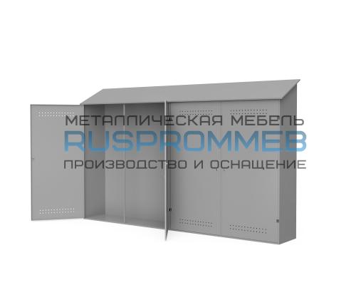 Металлический шкаф для рампы О2 (2х10 баллонов)