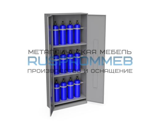 Шкаф для 12 газовых баллонов (до 5 литров) ШГБК-016