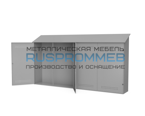 Металлический шкаф для рампы О2 3700х600х2050 мм