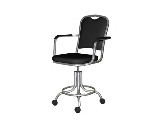 Кресло на винтовой опоре с подлокотниками КР09