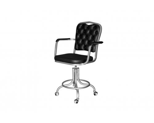 Кресло на винтовой опоре с подлокотниками КР 09-У