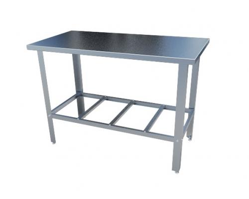 Стол с нержавеющим покрытием большой