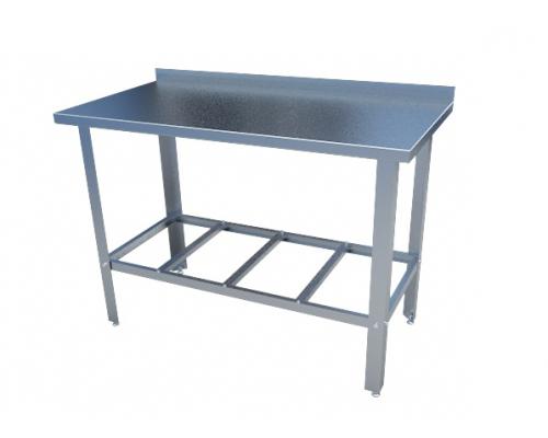 Стол с нержавеющим покрытием большой с бортом