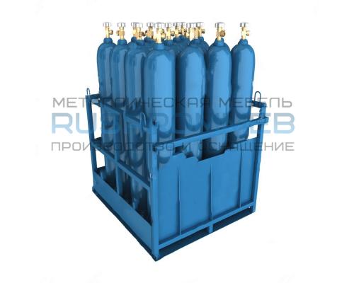 Контейнер для 16 кислородных газовых баллонов КГБ-16