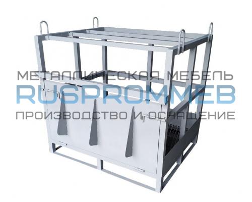 Контейнер для 12 кислородных газовых баллонов КГБ-01