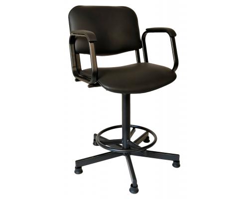 Кресло СТПП на винтовой опоре с подлокотниками