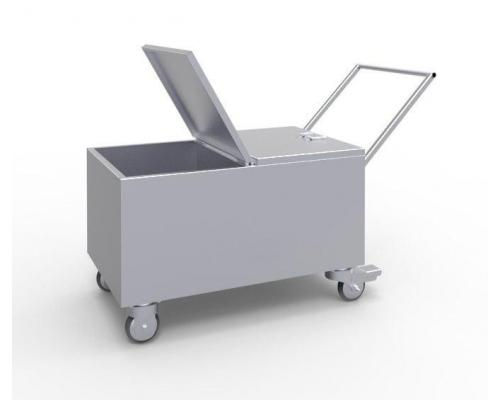 Мобильный ящик для ветоши металлический МКм-2-100/d100