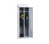 Шкаф двухстворчатый с наклонной крышей