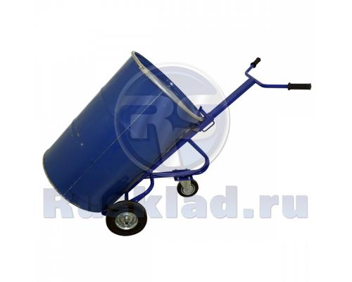 Бочкокат. Тележка для транспортировки металлических бочек КБ 1 (г/п 220кг)