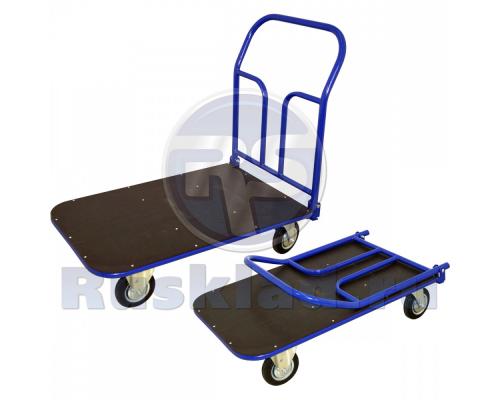 Тележка платформенная ламинированная фанера, система трансформации — педаль. ТПСР ФЛ П